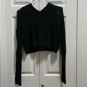 Garage Cropped Knitted Sweater
